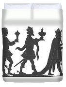 Silhouette Of Three Kings Duvet Cover