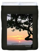 Silhouette Sunrise Duvet Cover