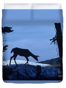 Silhouetted Deer Duvet Cover
