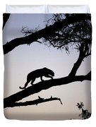 Silhouetted Leopard Duvet Cover