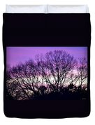 Silhouettes Against Pink Skies Duvet Cover