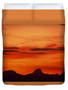 Silhouettes Of Alps Duvet Cover