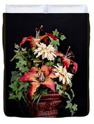 Silk Flowers Duvet Cover by Jeff Burton
