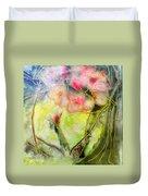 Silky Almond Flower Duvet Cover