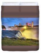 Silky Niagara Falls Panoramic Sunset Duvet Cover