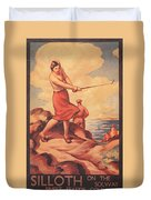 Silloth On The Solway, Advertisement Duvet Cover
