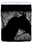 Silouette Of A Stallion Duvet Cover