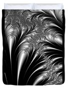 Silver And Black Abstract Duvet Cover
