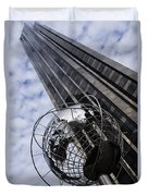 Silver And Blue Planet Earth Duvet Cover