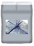 Silver And Blue Wrapped Gift Art Prints Duvet Cover