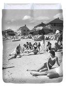 Silver Beach On Cape Cod Duvet Cover