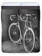 Silver Bike Bw Duvet Cover