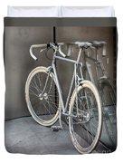 Silver Bike Duvet Cover