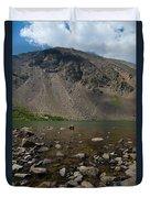 Silver Dollar Lake Colorado Duvet Cover