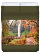 Silver Falls State Park Duvet Cover