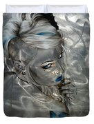 Silver Flight Duvet Cover