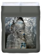 Silver Flight Duvet Cover