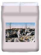 Silver Gate Road Yellowstone Np Duvet Cover