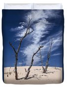 Silver Lake Dune With Dead Trees And Cirrus Clouds Duvet Cover
