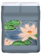 Silver Lillies Duvet Cover by Daniel Dubinsky