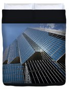 Silver Lines To The Sky - Downtown Toronto Skyscraper Duvet Cover