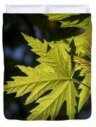 Silver Maple Duvet Cover