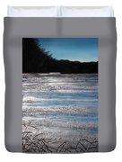 Silver Marsh Duvet Cover