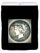 1922 Silver Proof Peace Dollar Duvet Cover