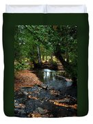 Silver River Channel In Autumn Duvet Cover