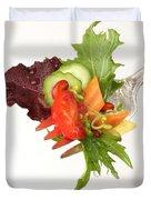 Silver Salad Fork Duvet Cover