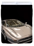 Silver Sports Car Duvet Cover by Edward Fielding