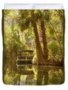 Silver Springs Glass Bottom Boats Duvet Cover by Christine Till