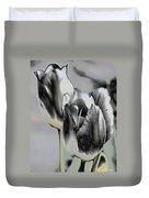 Silver Tulips Duvet Cover