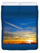 Silver Wing Sunset Duvet Cover