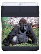 Silverback Western Lowland Gorilla Duvet Cover