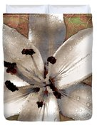 Silvery Asiatic Lily Duvet Cover
