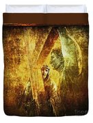 Simon Helps Jesus Via Dolorosa 5 Duvet Cover by Lianne Schneider