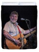 Simon Nicol Of Britian's Fairport Convention Duvet Cover