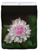 Simple White Straw Flower Duvet Cover