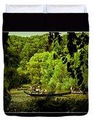 Simpler Times - Central Park - Nyc Duvet Cover