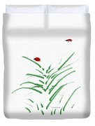 Simply Ladybugs And Grass Duvet Cover