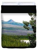 Simpson Peak At Swan Lake-yt Duvet Cover