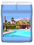 Sinatra Pool Cabana Palm Springs Duvet Cover