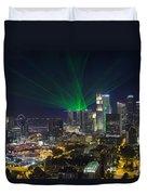 Singapore Central Business District Skyline Duvet Cover