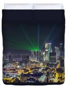 Singapore Cityscape At Night Duvet Cover