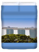 Singapore Marina Bay Sands And Skypark Duvet Cover