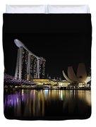 Helix Bridge To Marina Bay Sands Duvet Cover