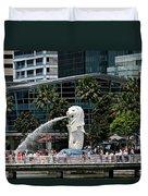 Singapore Merlion Park Duvet Cover