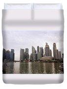 Singapore's Marina Bay Duvet Cover