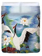 Singing In The Rain Hand Embroidery Duvet Cover